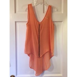 Sequin Flowy Tank Small in Pink/Peach